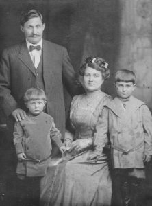 The Gasperiks in 1910 with sons Frank and Joe